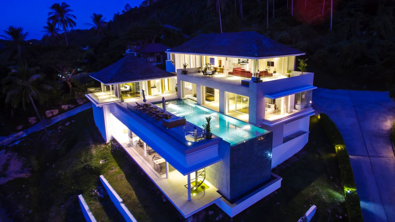 4 Bedroom Sea View Villa with Infinity Pool at Bang Por Koh Samui