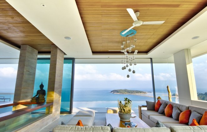 5 Bedroom Sea View Villa with Infinity Pool at Chaweng Koh Samui