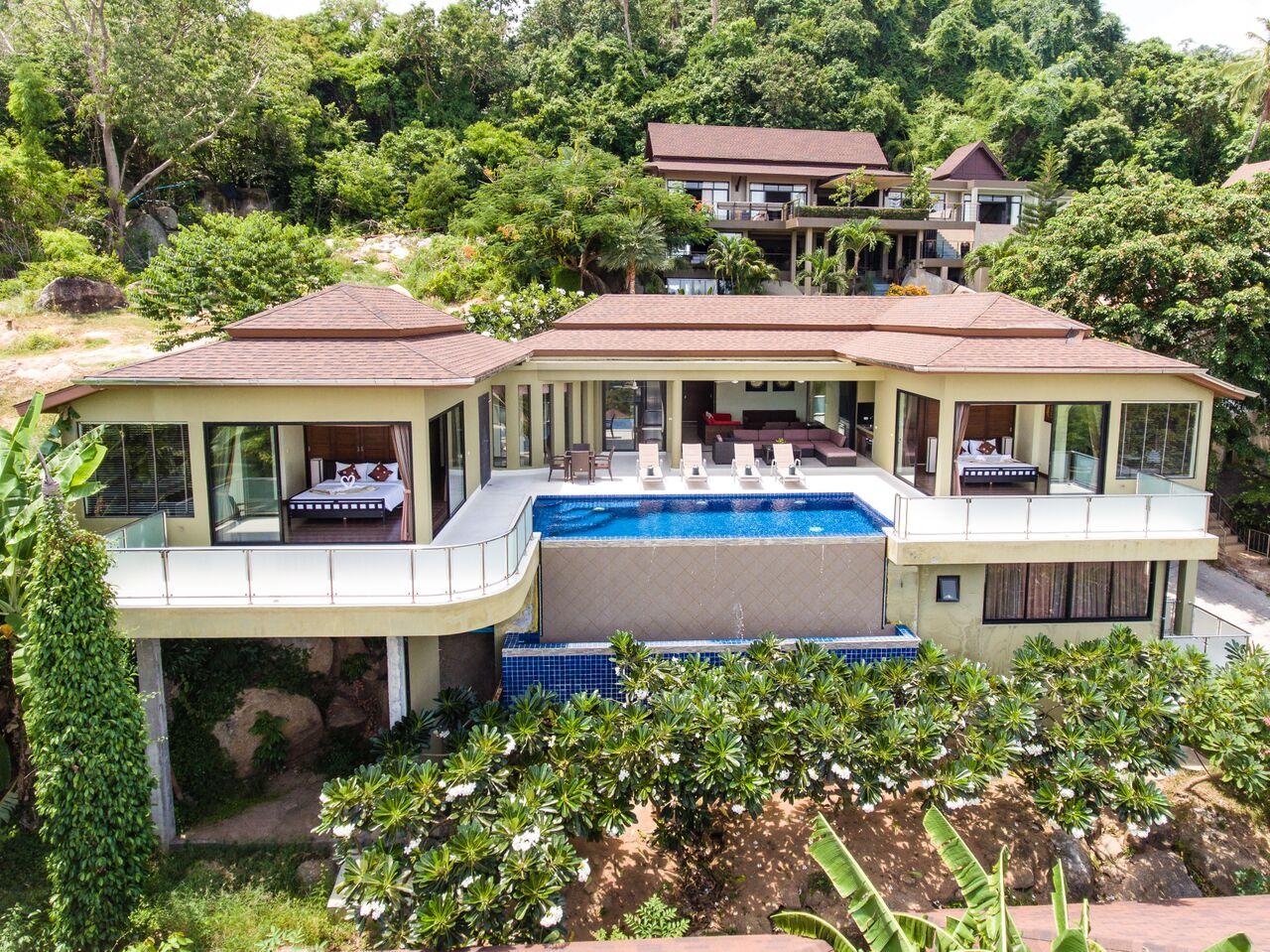 4 Bedroom Sea View Villa with Pool at Lamai Koh Samui