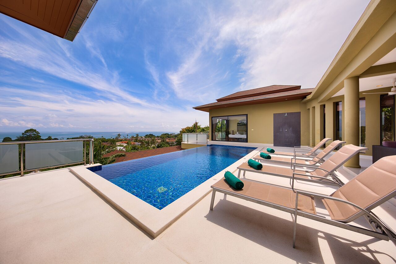 4 Bedroom Sea View Villa with Pool at Lamai Koh Samui