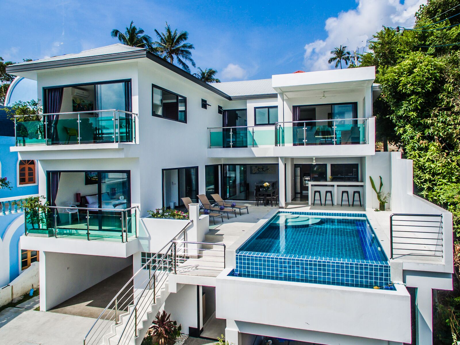4 Bedroom Sea View Villa with Private Pool at Lamai Koh Samui