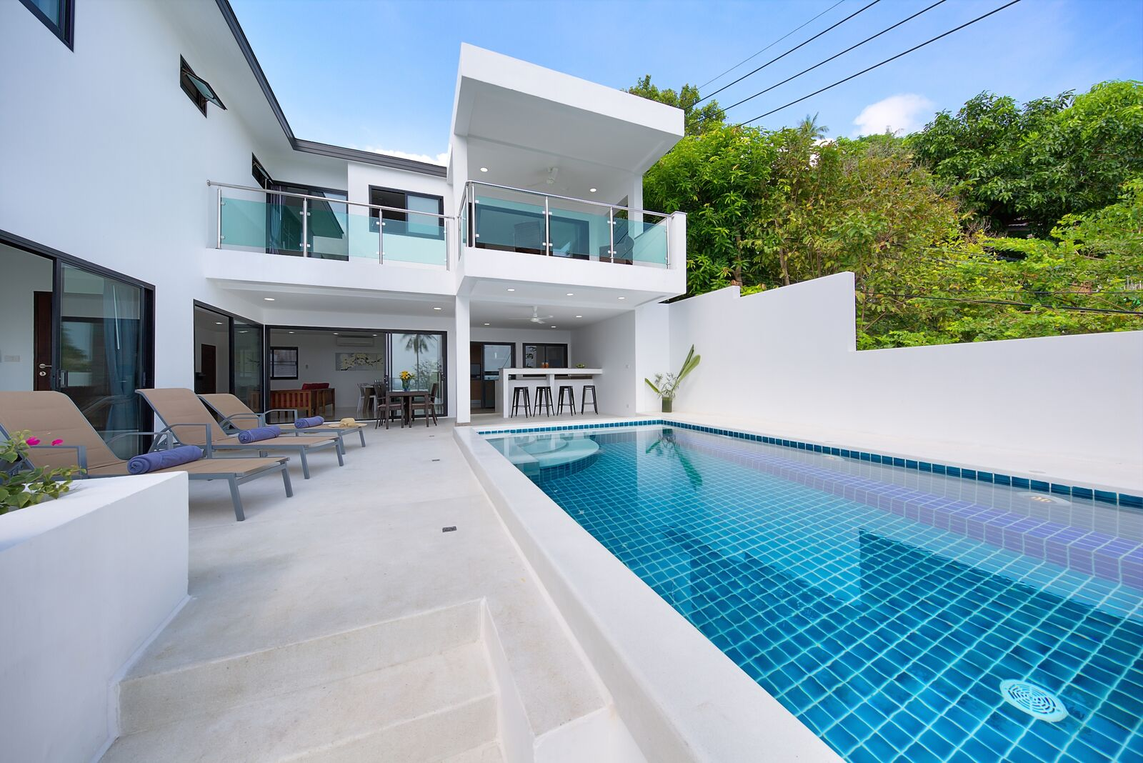 4 Bedroom Sea View Villa with Private Pool at Lamai Koh Samui