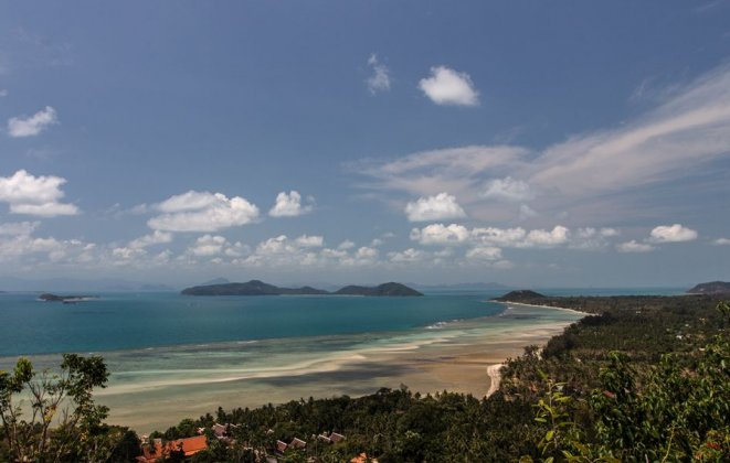 2 Bedroom Sea View Villa with Shared Pool at Laem Sett Koh Samui