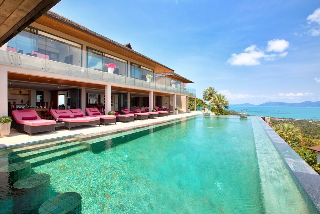 5 Bedroom Sea View Villa with Private Pool at Bophut Hills Koh Samui