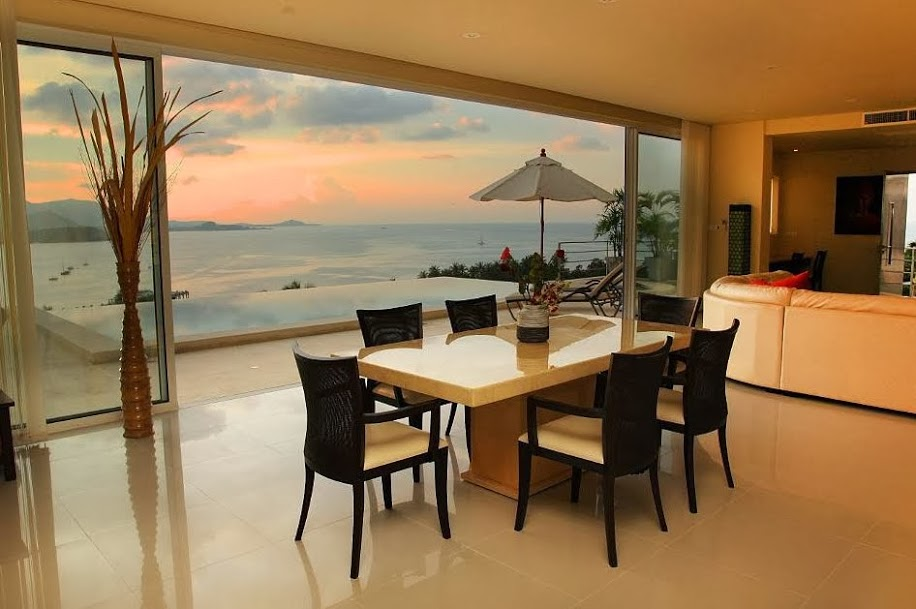 4 Bedroom Sea View Villa with Private Pool at Bangrak Koh Samui