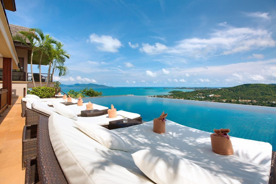 3 Bedroom Option Sea View Villa with Private Pool at Bophut Samui