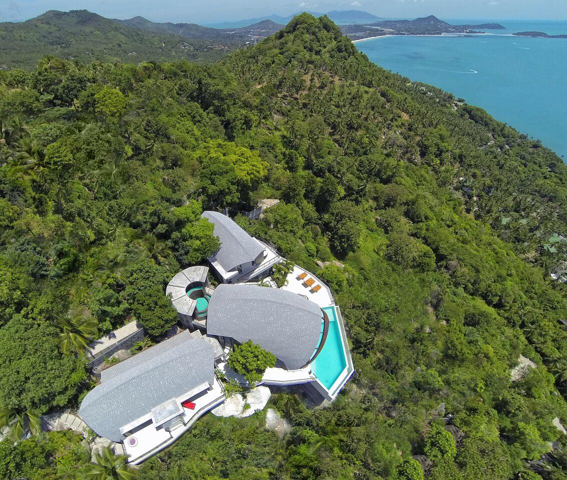 4 Bedroom Sea View Villa with Infinity Pool at Chaweng Koh Samui