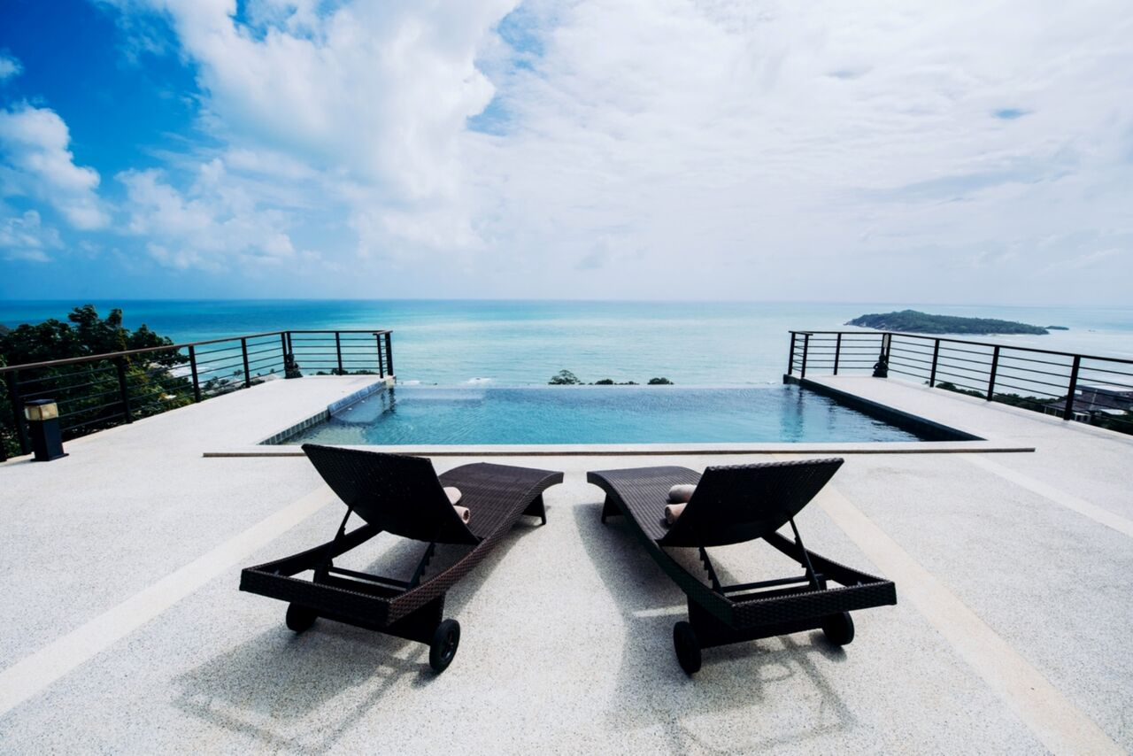 3 Bedroom Sea View Villa with Infinity Pool at Chaweng Koh Samui