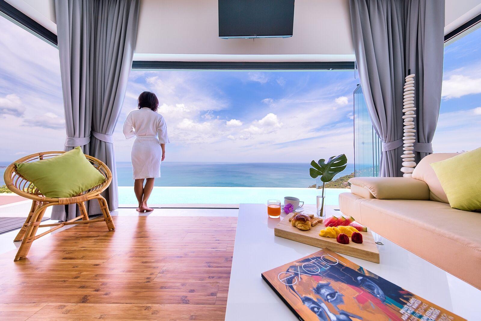 4 Bedroom Sea View Villa with Two Pools at Chaweng Koh Samui