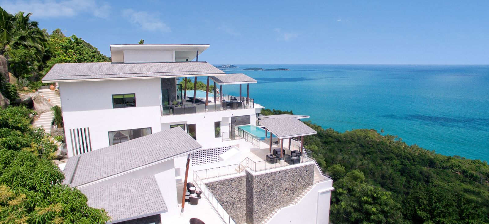 4 Bedroom Sea View Villa with Two Pools at Chaweng Koh Samui