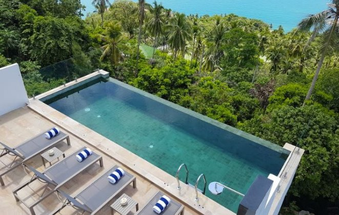4 Bedroom Sea View Villa with Infinity Pool at Chaweng Ko Samui