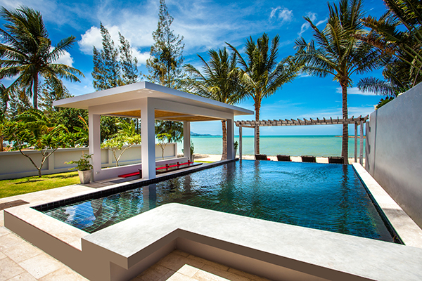 4 Bedroom Beach Front Villa with Pool at Plai Laem Koh Samui