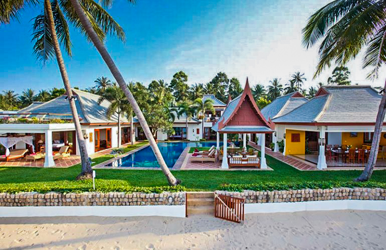 5 Bedroom Option Luxury Beach Front Villa with Private Pool at Maenam Ko Samui