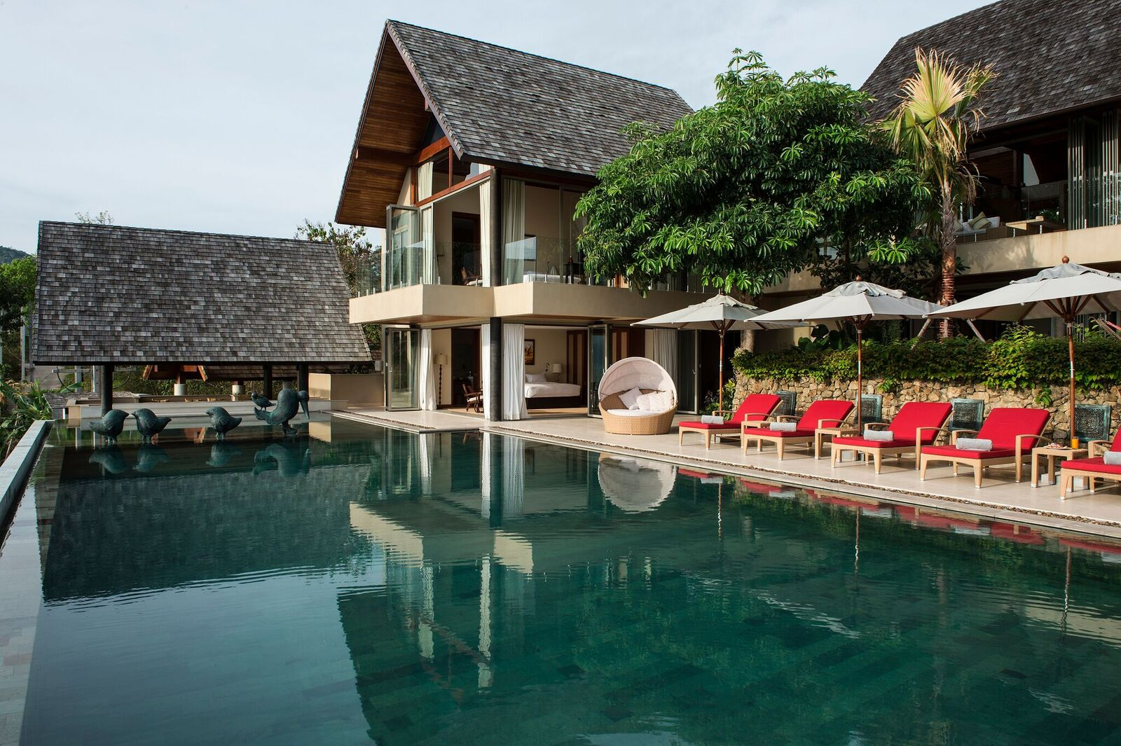 5 Bedroom Sea View Villa with Infinity Pool at Bophut Koh Samui