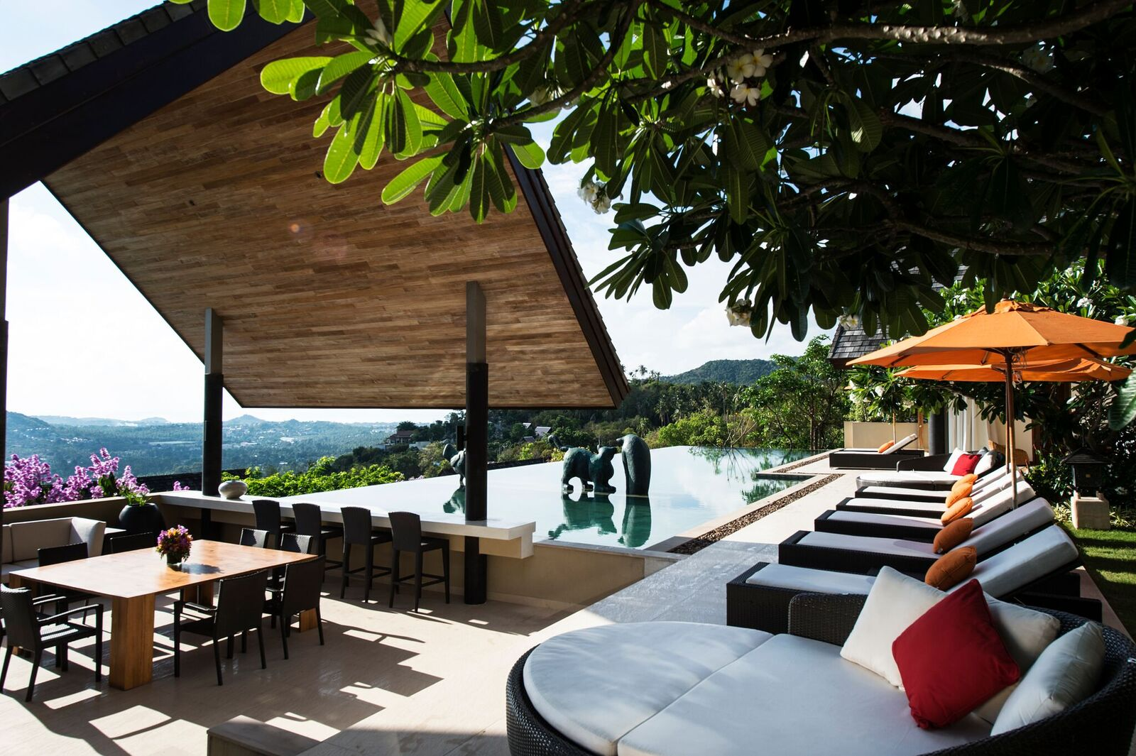 4 Bedroom Sea View Villa with Infinity Pool at Bophut Ko Samui