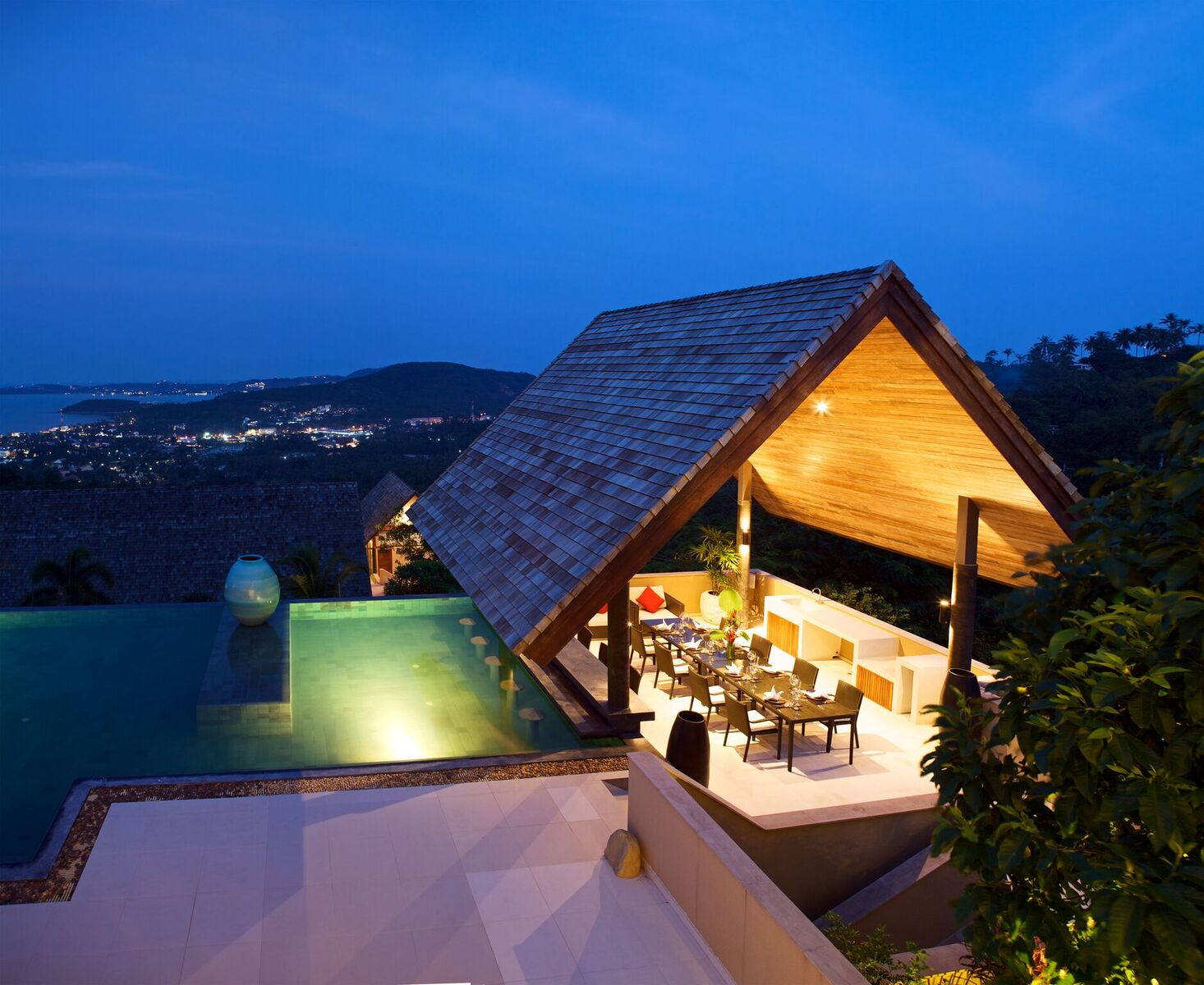 5 Bedroom Sea View Villa with Infinity Pool at Bophut Ko Samui