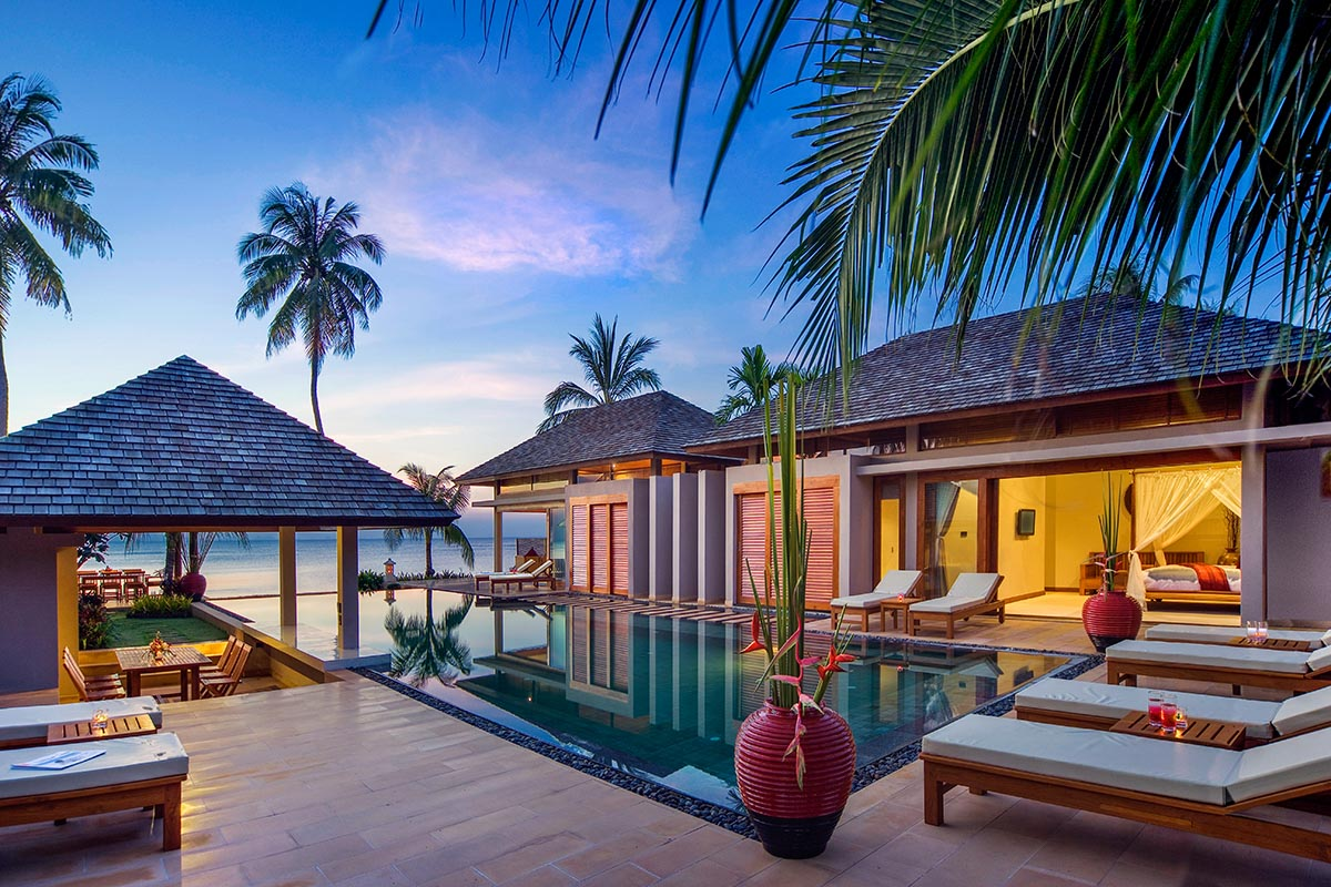 3 Bedroom Option Beach Front Villa with Private Pool at Nathon Koh Samui