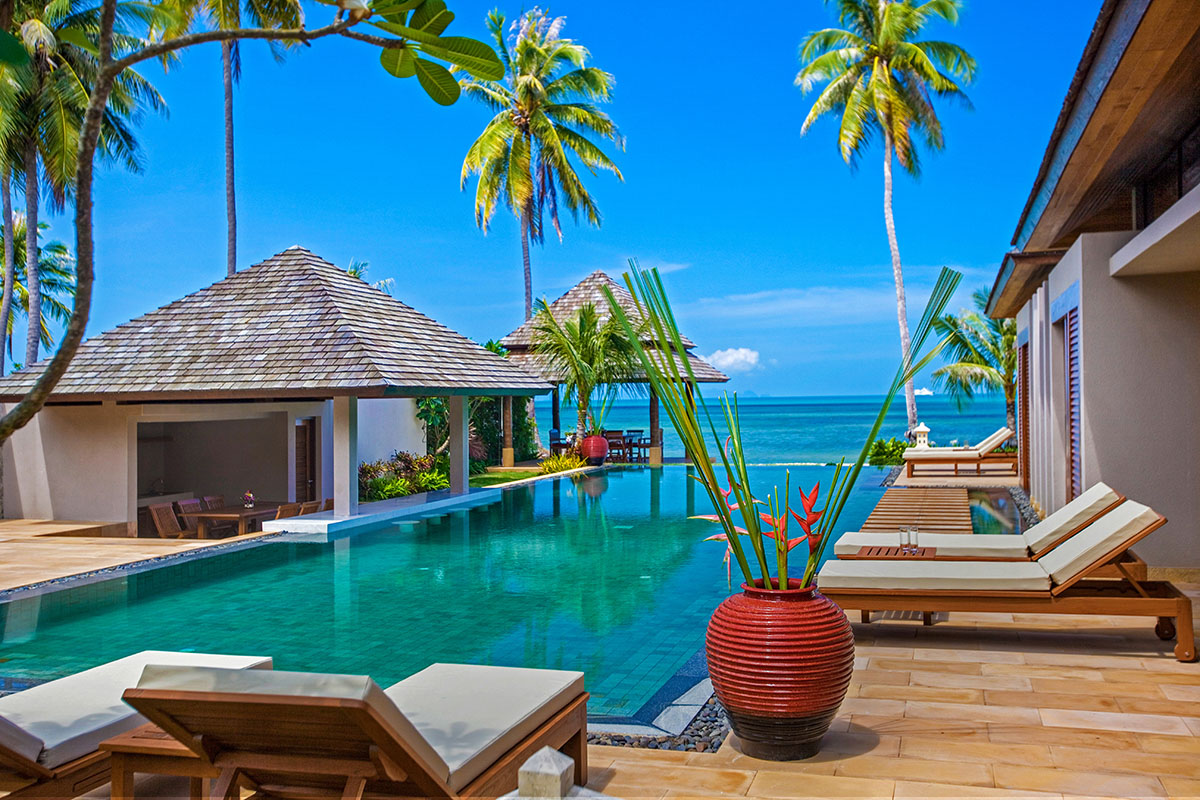 5 Bedroom Option Beach Front Villa with Private Pool at Nathon Koh Samui