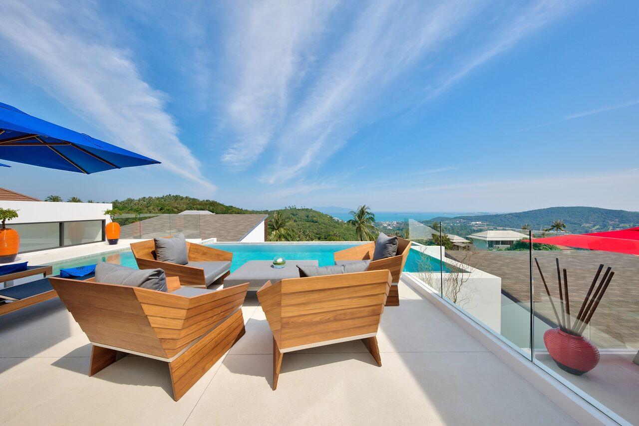 6 Bedroom Sea View Villa with Pool at Bophut Samui