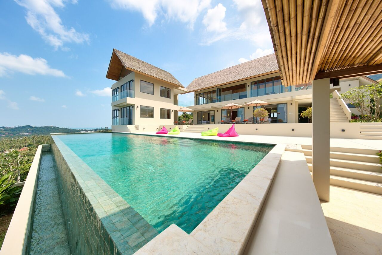 6 Bedroom Sea View Villa with Infinity Pool at Bophut Koh Samui
