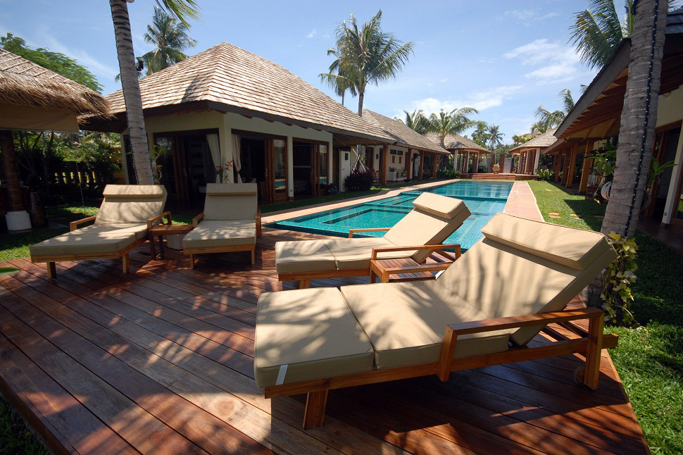 6 Bedroom Beach Front Villa with Private Pool at Plai Laem Koh Samui
