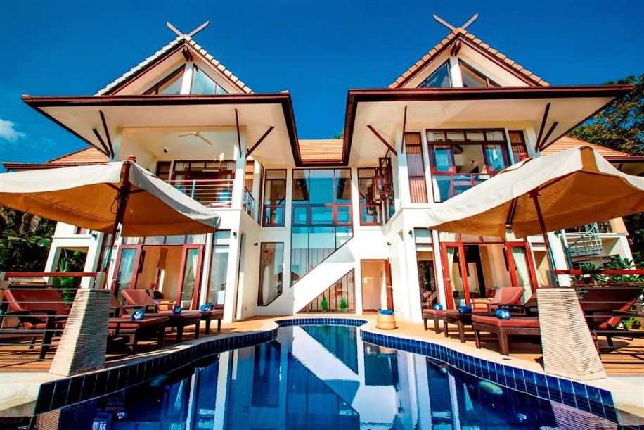 5 Bedroom Sea View Villa with Private Pool at Bang Por Koh Samui