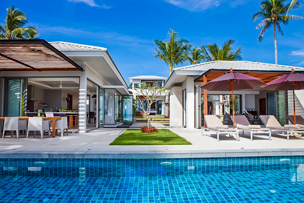 4 Bedroom Option Luxury Beach Front Villa with Private Pool at Lipa Noi Koh Samui