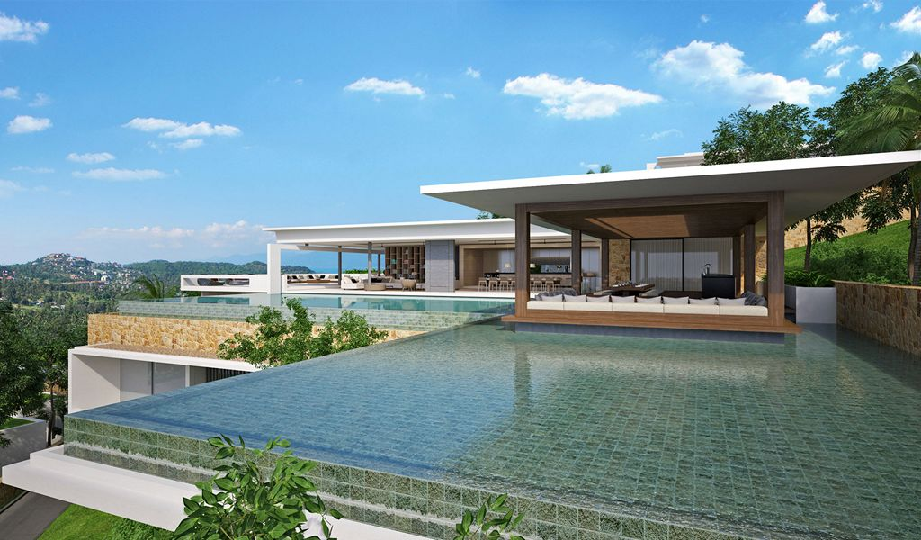 8 Bedroom Sea View Villa with Private Pool at Choeng Mon Koh Samui