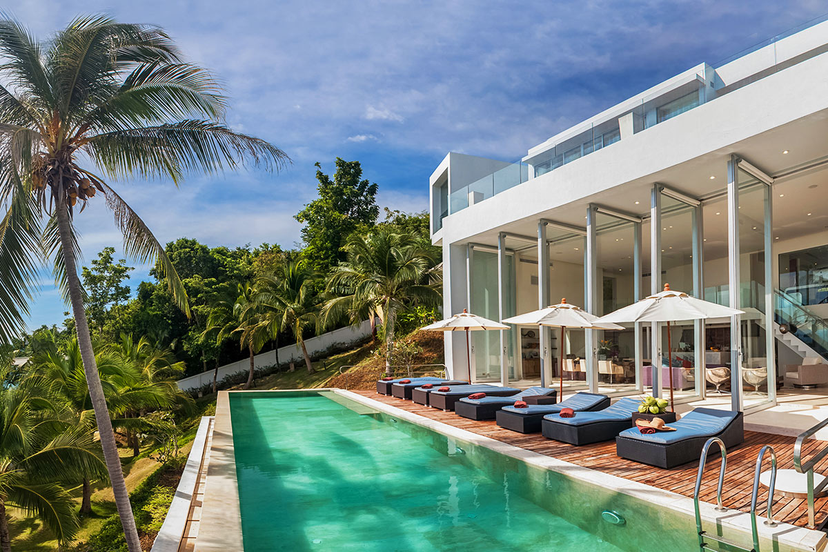 2 Bedroom Option Beach Front Villa with Private Pool at Taling Ngam Koh Samui