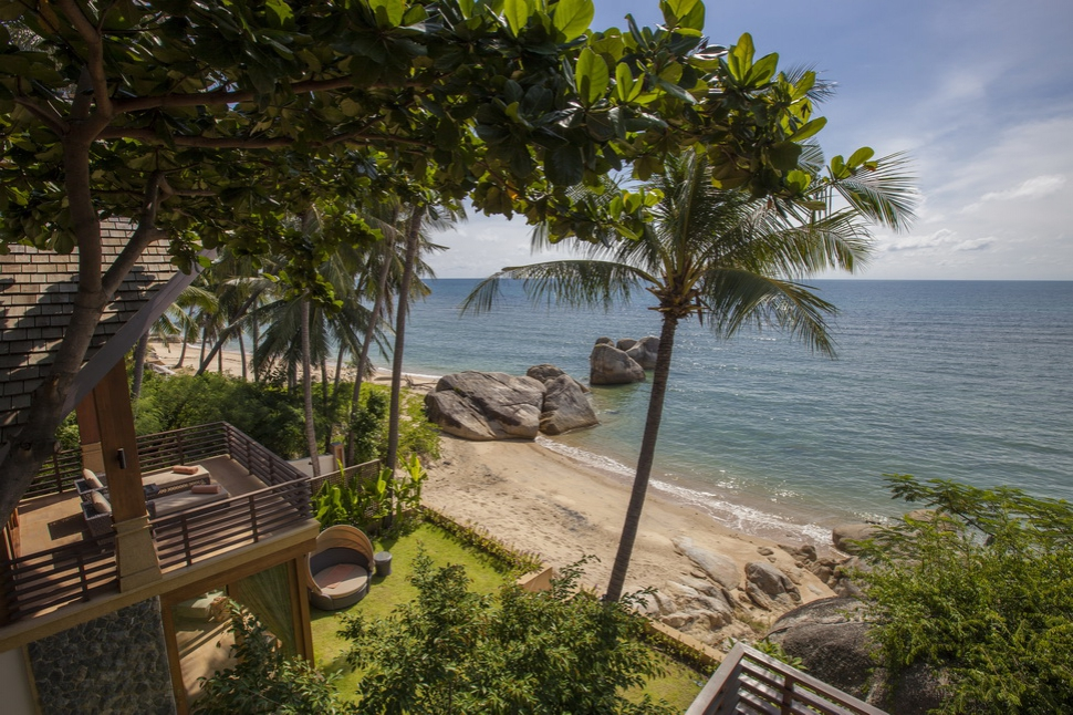 4 Bedroom Option Beach Front Villa with Private Pool at Lamai Ko Samui