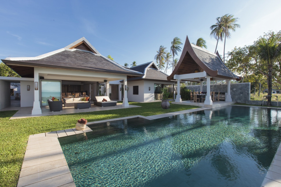 6 Bedroom Option Beach Front Villa with Private Pool at Maenam Koh Samui Thailand