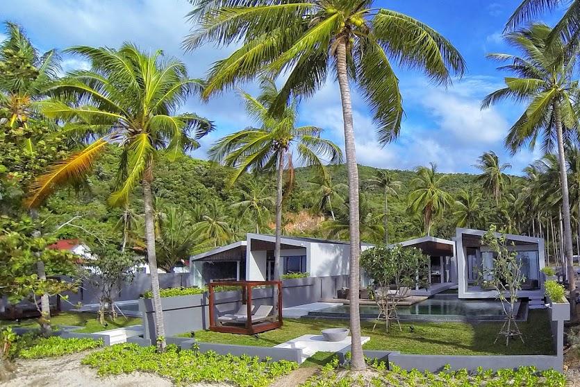 2 Bedroom Option Beach Front Villa with Private Pool at Bang Por Ko Samui Thailand