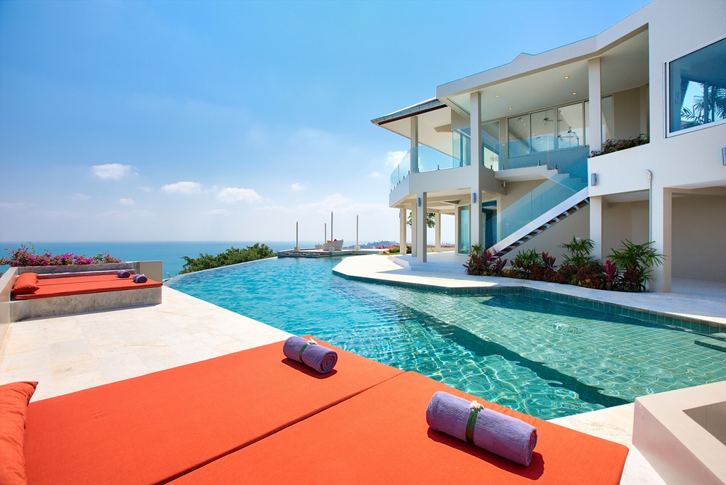 5 Bedroom Option Pool Villa with Sea View at Choeng Mon Koh Samui