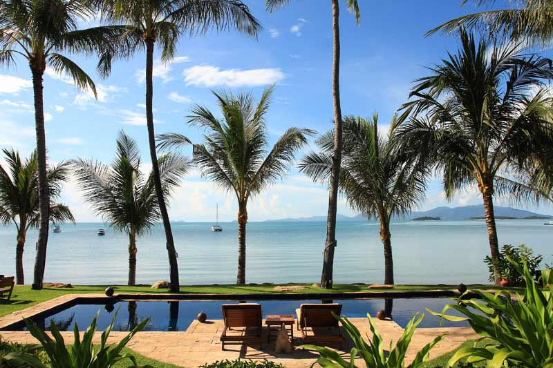 6 Bedroom Option Beach Front Villa with Private Pool at Bangrak Koh Samui