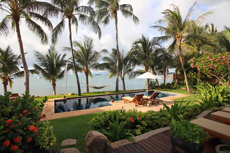 4 Bedroom Option Beach Front Villa with Private Pool at Bangrak Koh Samui