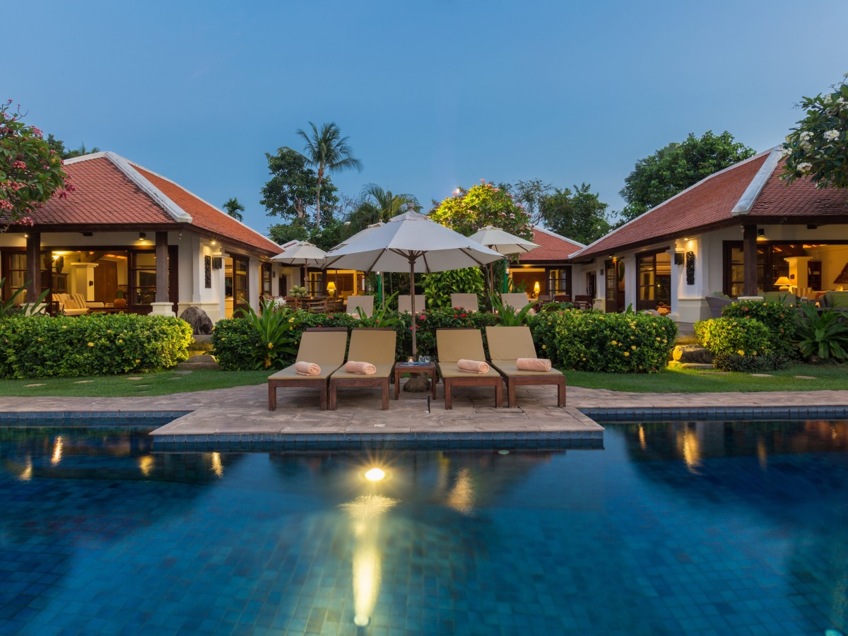 5 Bedroom Option Beach Front Villa with Private Pool at Bangrak Koh Samui