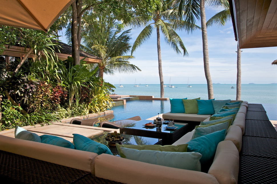 5 Bedroom Option Beach Front Villa with Private Pool at Bangrak Samui