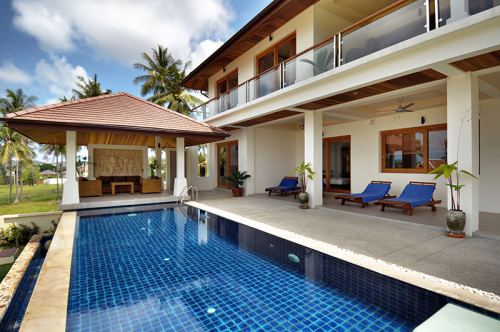 4 Bedroom Garden Villa with Private Pool at Bangrak Koh Samui