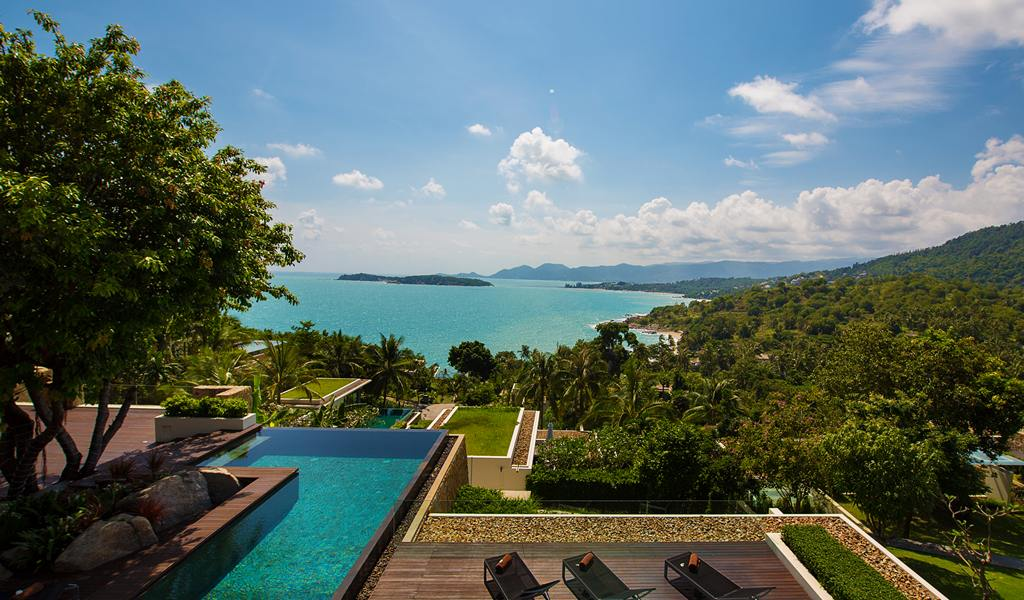 5 Bedroom Sea View Villa with Pool at Choeng Mon Samui