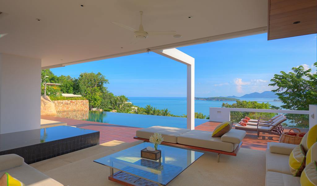 4 Bedroom Sea View Villa with Private Pool at Choeng Mon Ko Samui