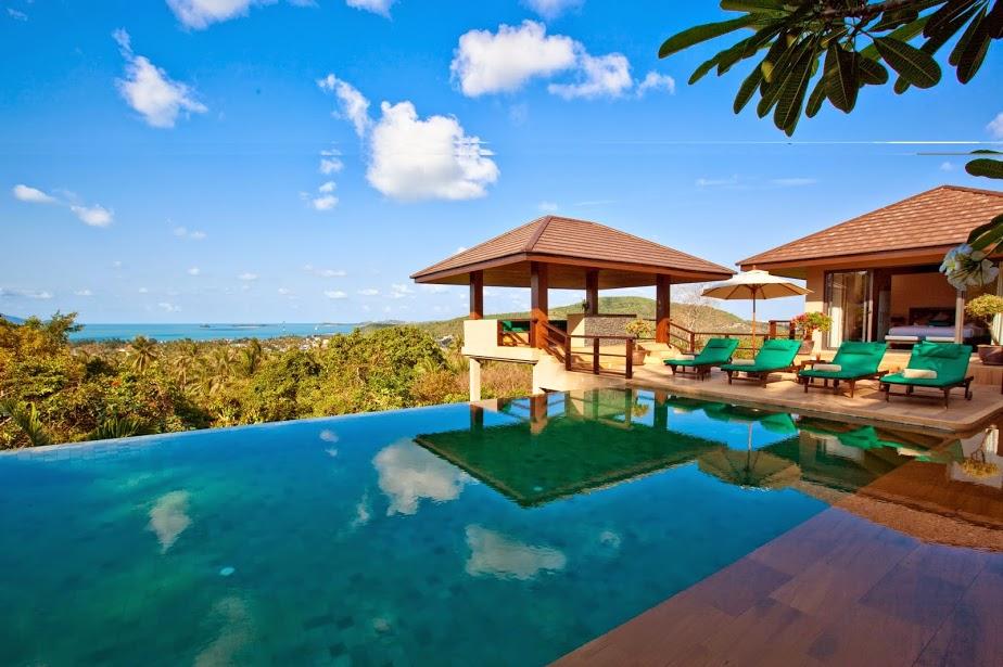 4 Bedroom Sea View Villa with Pool at Bophut Koh Samui Thailand