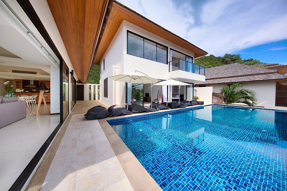 3 Bedroom Sea View Villa with Pool at Bophut Ko Samui Thailand