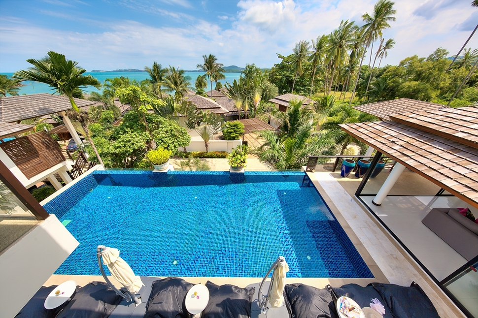 2 Bedroom Option Sea View Villa with Pool at Bophut Ko Samui Thailand