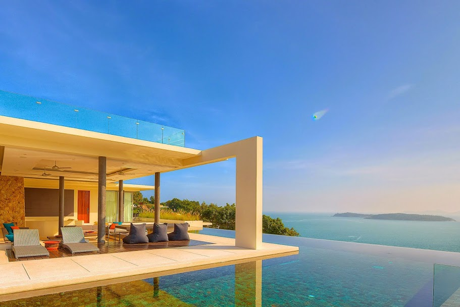 2 Bedroom Option Sea View Villa with Private Pool at Choeng Mon Samui Thailand