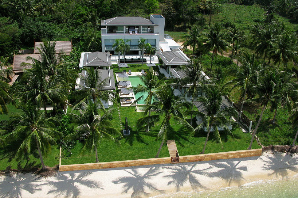 5 Bedroom Beach Front Villa with Private Pool at Taling Ngam  Ko Samui Thailand