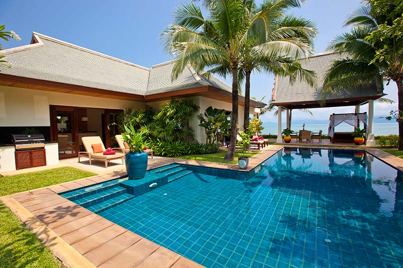4 Bedroom Beach Front Villa with Private Pool at Maenam Koh Samui