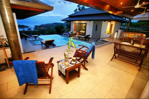 5 Bedroom Sea View Villa with Pool at Choeng Mon Ko Samui