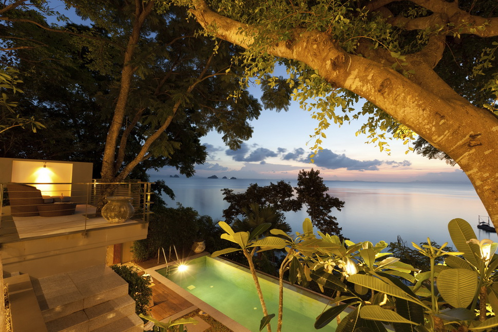 2 Bedroom Beach Front Villa with Private Pool at Taling Ngam  Koh Samui