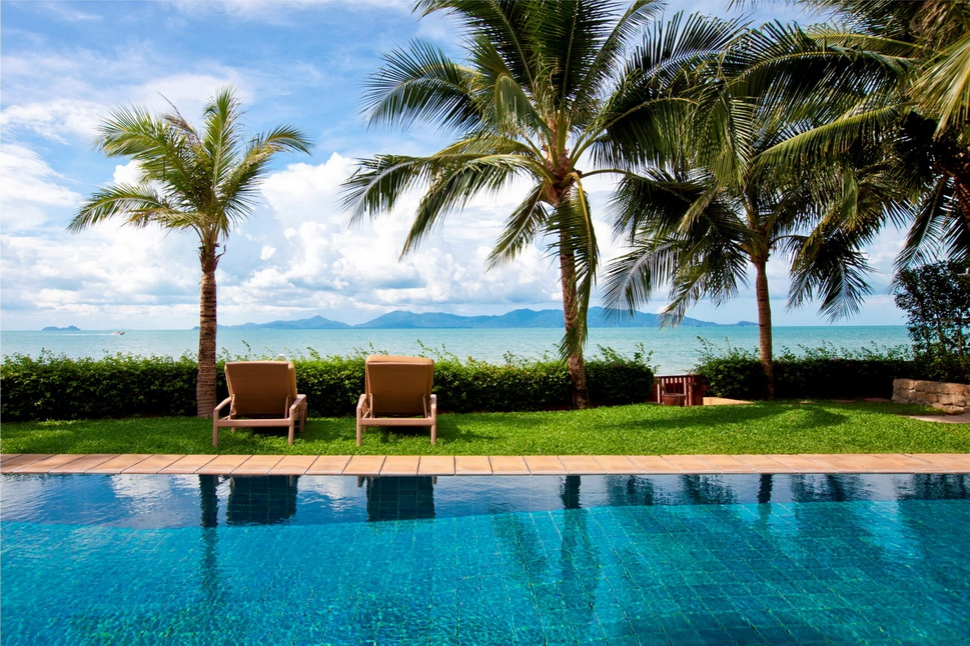 2 Bedroom Option Beach Front Villa with Private Pool at Maenam Samui