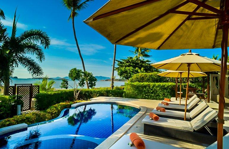 3 Bedroom Beach Front Villa with Private Pool at Plai Laem Ko Samui